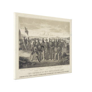 The General's of the Confederate Army Gallery Wrap Canvas
