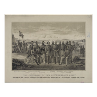 The General's of the Confederate Army Print