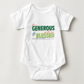 The Generous will be blessed Baby Bodysuit