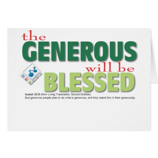 The Generous will be blessed Card
