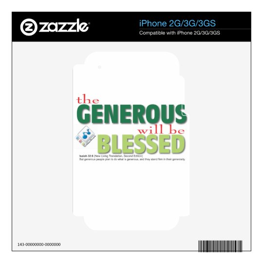 The Generous will be blessed iPhone 3GS Skin