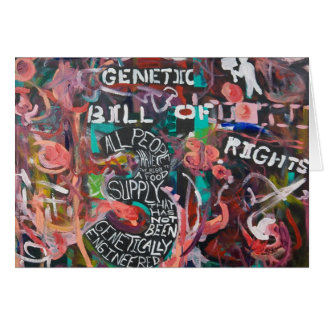 The Genetic Bill of Rights Painting #3 Card
