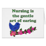 The Gentle Are Of Caring Greeting Cards