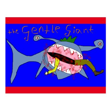 Beach Themed The Gentle GIANT of the sea Postcard