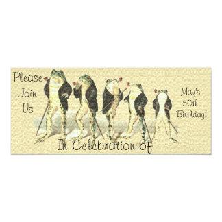 The Gentleman 4x9.25 Paper Invitation Card