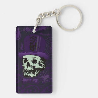 the Gentleman, A Cavalier's Halloween Rectangular Acrylic Key Chain