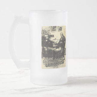 The Gentlemen's Grindhouse Frosted Beer Glass! Frosted Glass Beer Mug