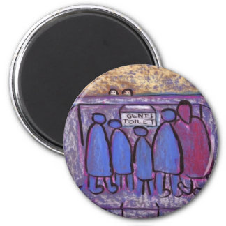 THE GENTS TOILET 2 INCH ROUND MAGNET