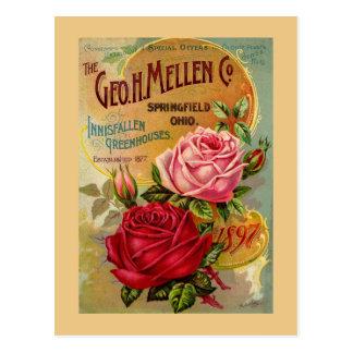 The Geo. H. Mellen Co. Greenhouse Advertisement Post Card