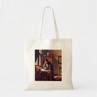 The Geographer by Johannes Vermeer Bags