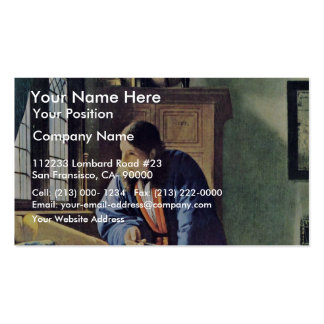 The Geographer.,  By Johannes Vermeer Business Card