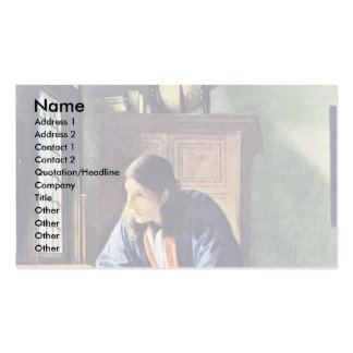 The Geographer.,  By Johannes Vermeer Business Card Templates