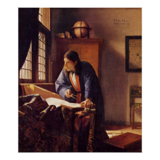 The Geographer by Johannes Vermeer Print
