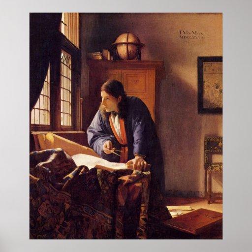 The Geographer by Johannes Vermeer Print