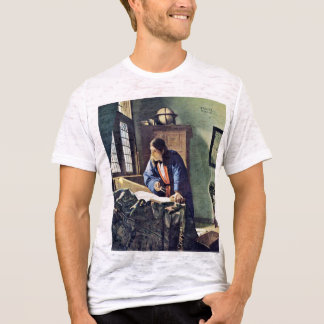 The Geographer.,  By Johannes Vermeer T-Shirt