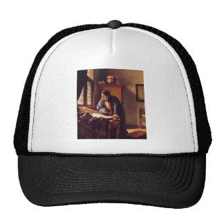 The Geographer by Johannes Vermeer Trucker Hat