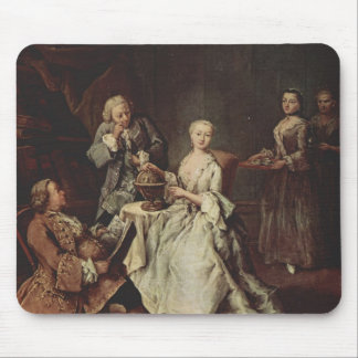 The Geography Lesson by Pietro Longhi Mouse Pad
