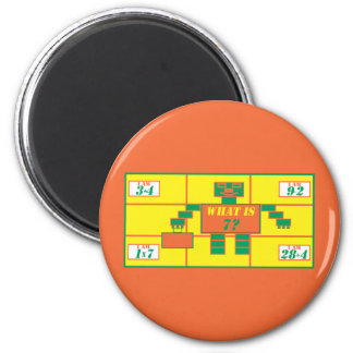 The Geometrics-Magnet-Rectangle-Age 7 2 Inch Round Magnet