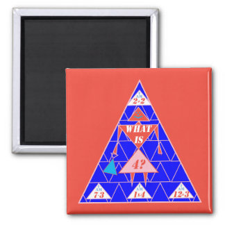 The Geometrics-Magnet-Triangle-Age 4 2 Inch Square Magnet