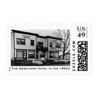The Geraldine Hotel in the 1950's Postage Stamp