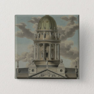 The German Cathedral on the Gendarmenmarkt, 1812 Pinback Button