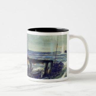 The German u-boat U 56 sunk by Grozovoi Two-Tone Coffee Mug