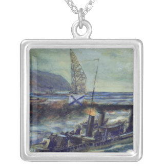 The German u-boat U 56 sunk by Grozovoi Silver Plated Necklace