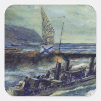 The German u-boat U 56 sunk by Grozovoi Square Sticker