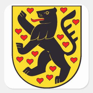 The German Weimar crest Square Sticker