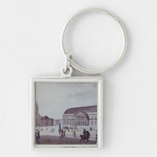 The Gerndarmenmarkt Silver-Colored Square Keychain