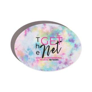 The GET Net Tie Dye Oval Sticker Car Magnet