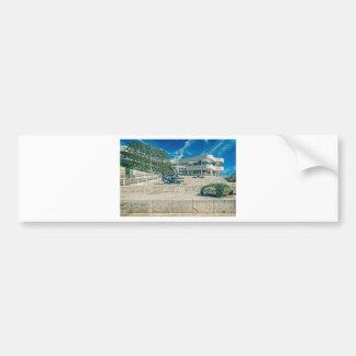 The Getty Center Arrival Plaza Bumper Sticker