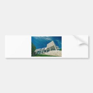 The Getty Center Exhibitions Pavilion Car Bumper Sticker