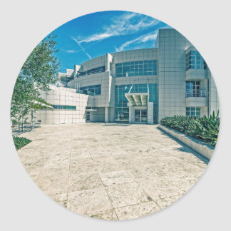 The Getty Center Research Institute Front Approach Classic Round Sticker