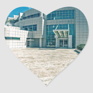 The Getty Center Research Institute Front Approach Heart Stickers