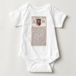 The Gettysburg Address by Abraham Lincoln 1863 Baby Bodysuit
