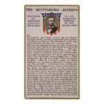 The Gettysburg Address by Abraham Lincoln 1863 Print