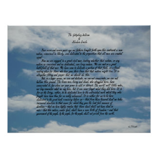 The Gettysburg Address by Abraham Lincoln Poster