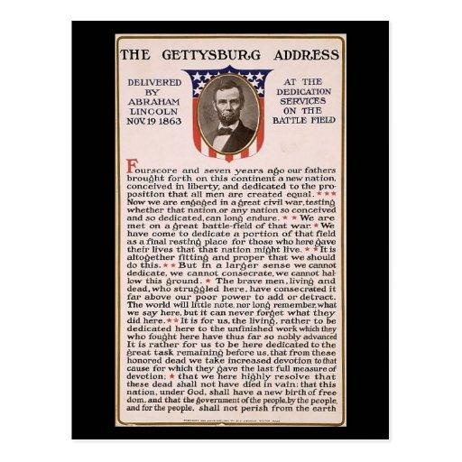 The Gettysburg Address Obama Inauguration Theme Post Cards