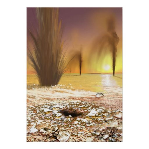 The Geysers of Mars Poster