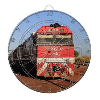 The Ghan train locomotive, Darwin Dartboard With Darts