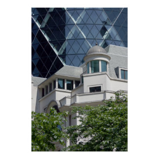 The Gherkin and Banca lonale del Lavoro, London Poster