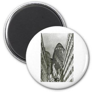 The Gherkin London 2 Inch Round Magnet