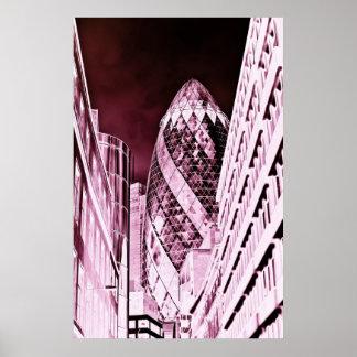 The Gherkin London Print
