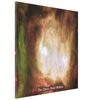 The Ghost Head Nebula (Captioned) Canvas Print