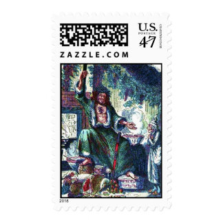 The Ghost of Christmas Present Postage Stamp