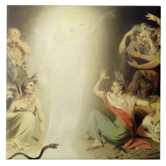 The Ghost of Clytemnestra Awakening the Furies, 17 Ceramic Tile