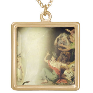 The Ghost of Clytemnestra Awakening the Furies, 17 Gold Plated Necklace