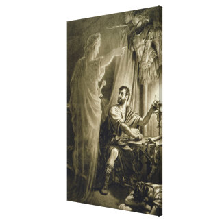 The Ghost of Julius Caesar, in the play by William Canvas Print