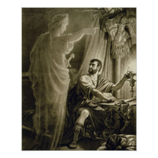 The Ghost of Julius Caesar in the play by William Poster